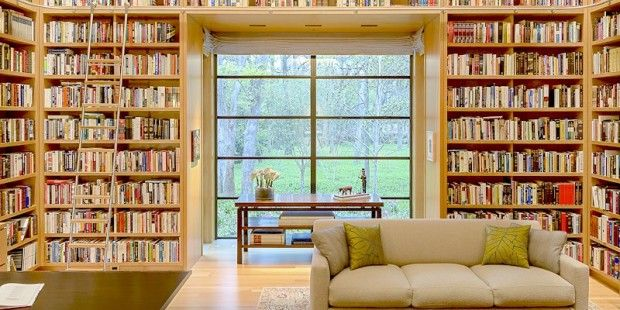 Home office library style.
