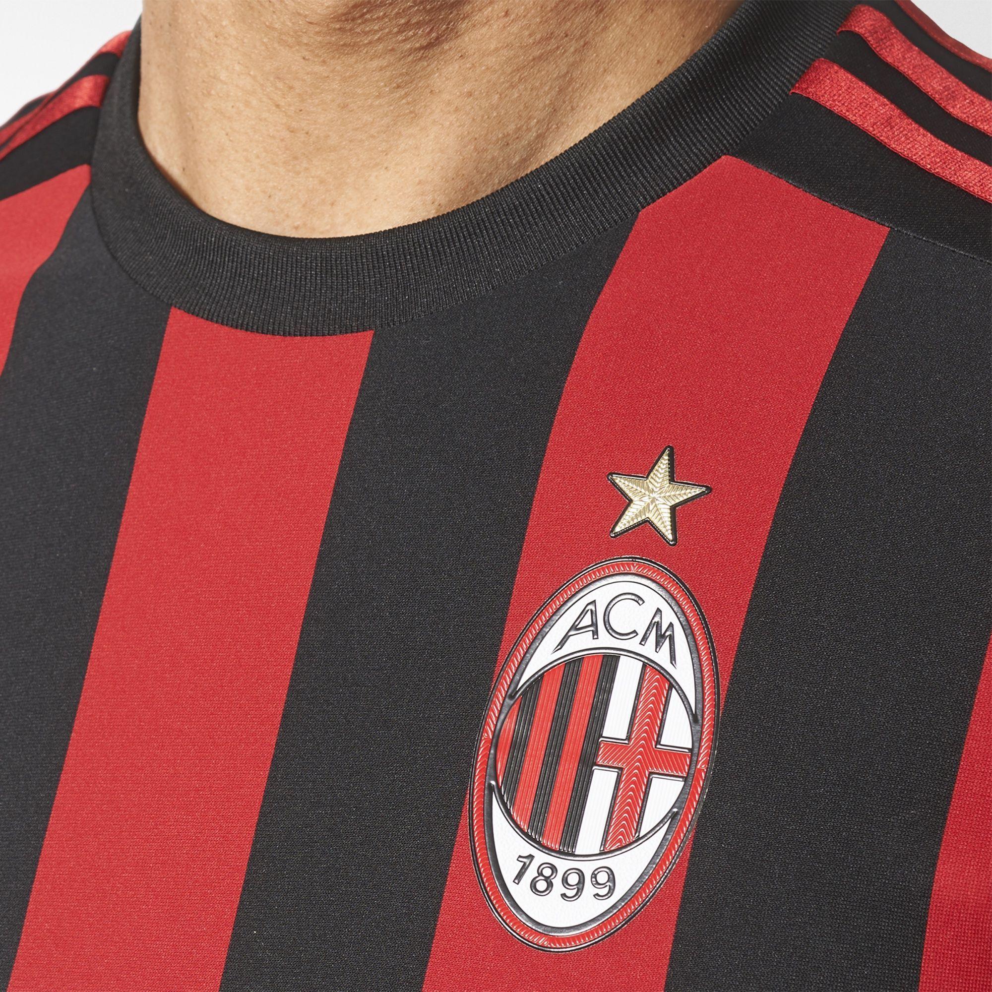 Design a t shirt kit - Ac Milan 2017 18 Adidas Home Kit 17 18 Kits Football Shirt