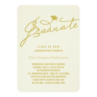 Simple stylish graduate graduation party invite custom modern simple stylish graduate graduation party invite custom modern graduate grad photo announcement or graduation party filmwisefo Gallery
