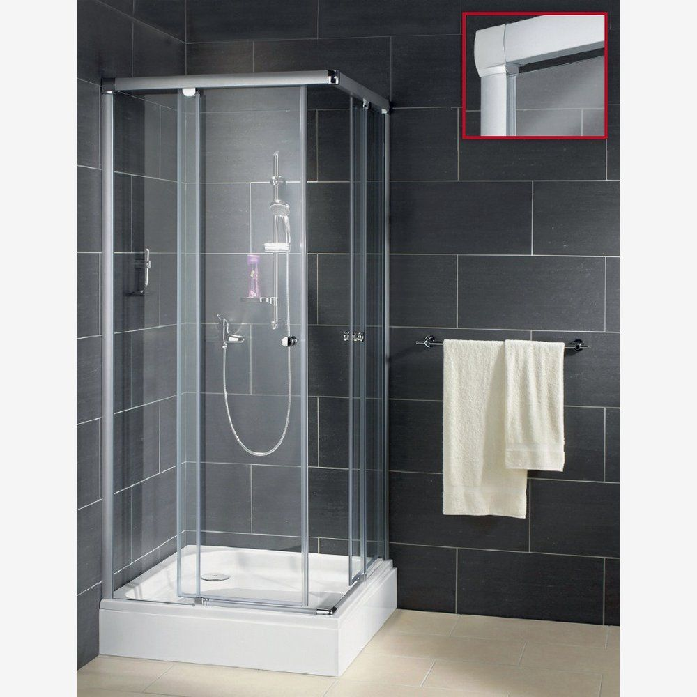 Duschkabinenserie Beta Klarglas Titan 90x90 Toom Baumarkt