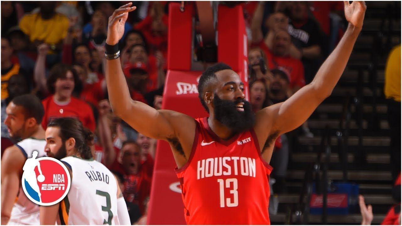 James Harden S Near Triple Double Leads Rockets Past Jazz In