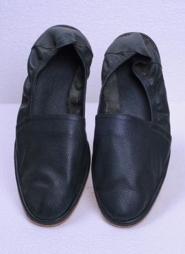 709626f7f0aea Black Indo Western Soft Leather Shoes