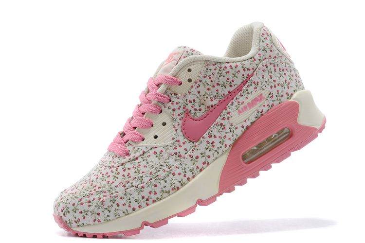 nike air max 90 womens shoes flower pink\/white ombre
