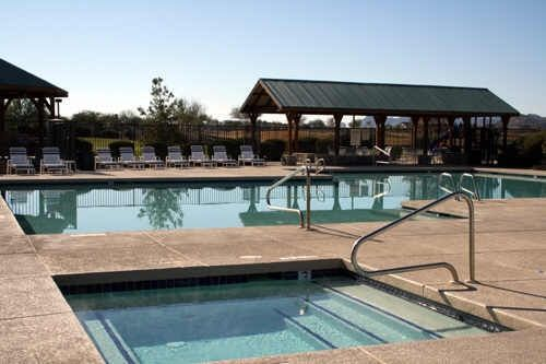 One of three pools in johnson ranch located in san tan for Pool builders queen creek az