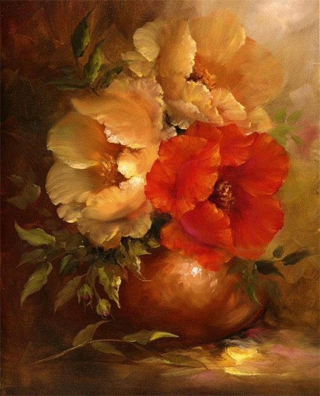 Gary Jenkins 1962 Peinture Fleurs Image Fleur Et Peindre Des