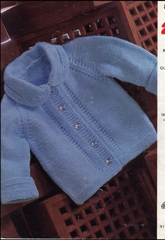 Vintage PDF Baby Knitting Pattern Emu 8244 por BouncinBaby, £1.25