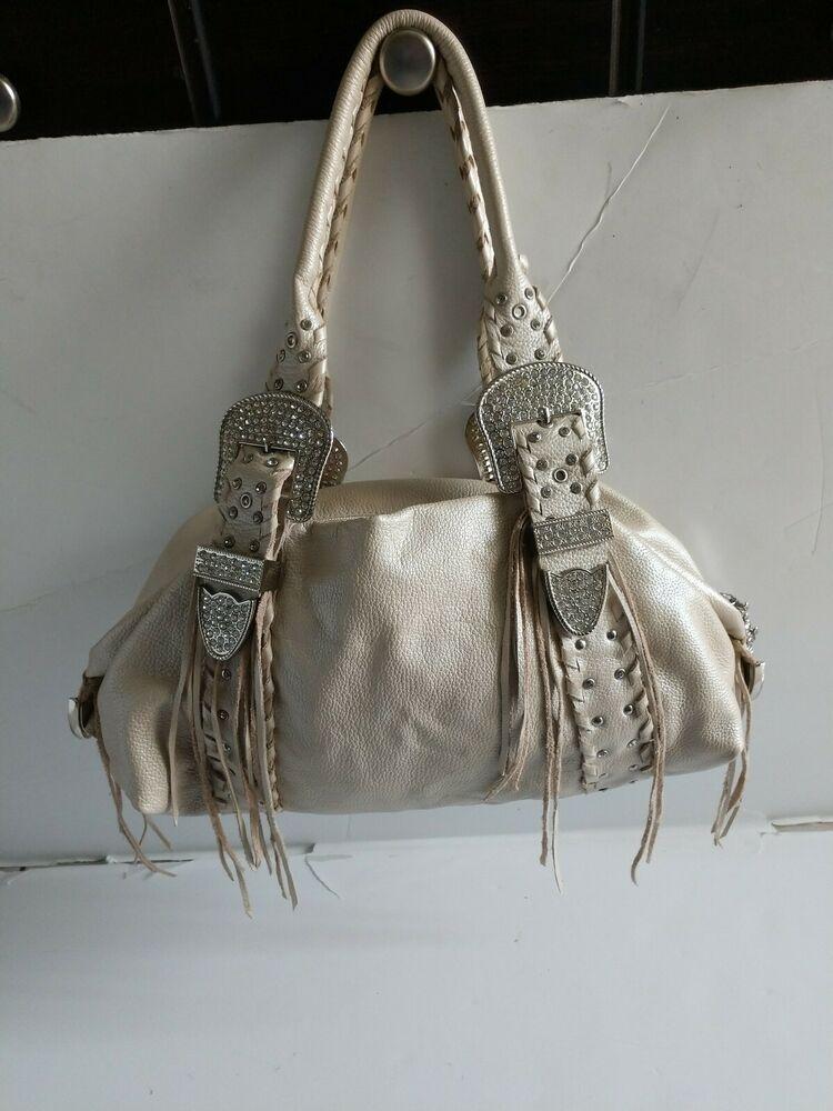 Purse Beige Leather