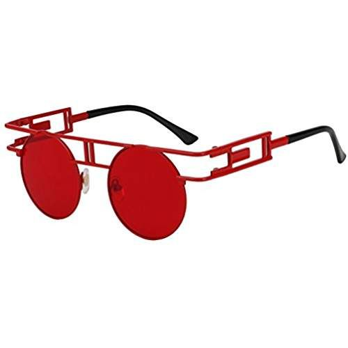 1541b13e376 ROYAL GIRL Round Retro Gothic Steampunk Sunglasses Women Men Circle Lens  Metal Frame