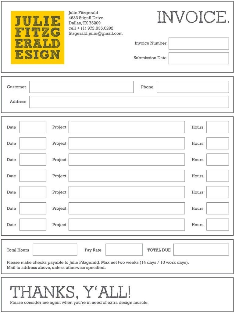 Contoh Faktur Invoice Tagihan Dengan Desain Menarikayuprintcoid