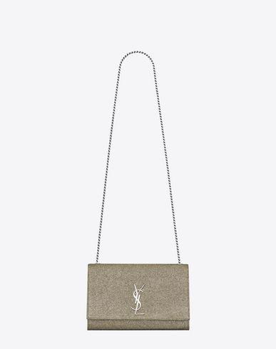 d672969dbd42 SAINT LAURENT Medium Kate Monogram Saint Laurent Satchel In Gold And  Silver.  saintlaurent  bags  hand bags  polyester  cotton  satchel  metallic