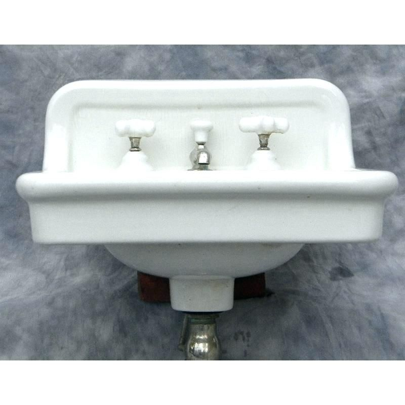 Fascinating Vintage Wall Mount Bathroom Sink Antique Crane Wall