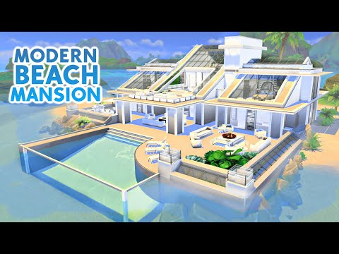 Modern Beach Mansion Sims 4 Speed Build Youtube Sims 4