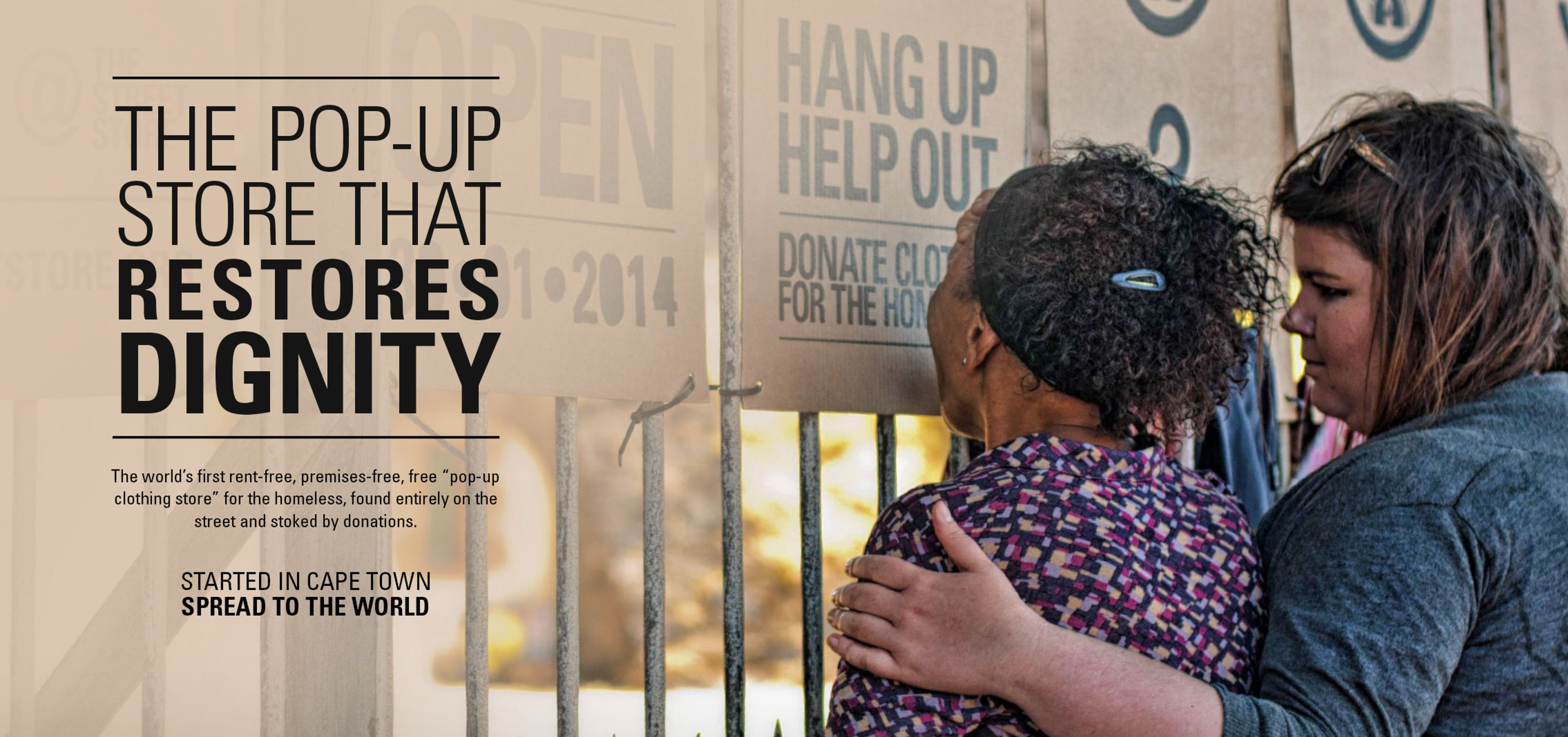The Street Store   Advertising for Humanitarian Aid Ideas   Award-winning creative social good campaigns   Helping the homeless clothing project   D&D Impact