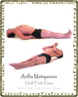 half fish  fish pose yoga pictures poses