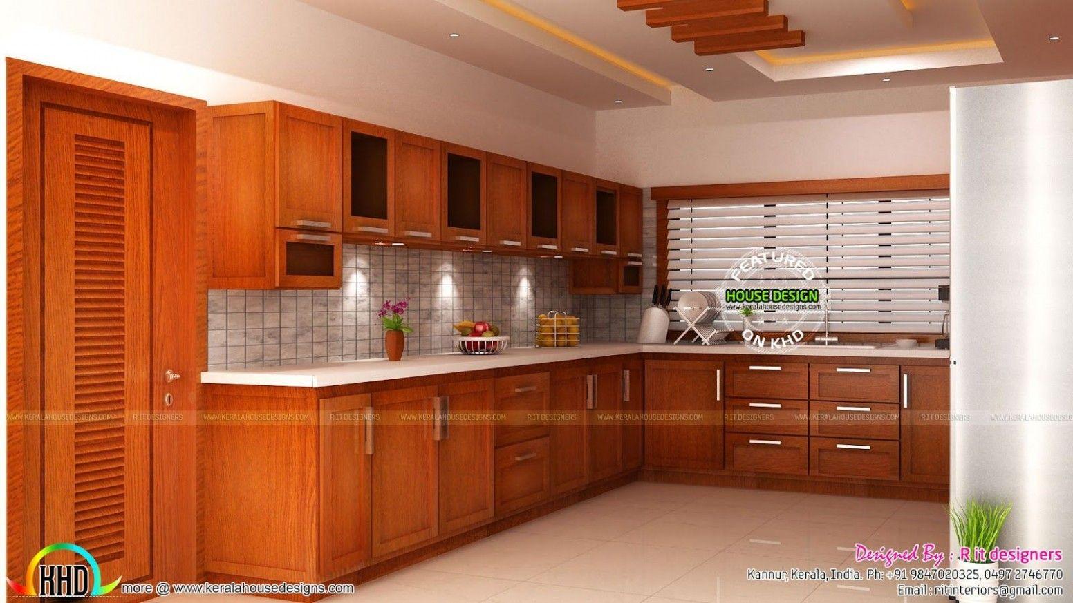 Kitchen Kerala Design   Interior design kitchen, Interior design ...