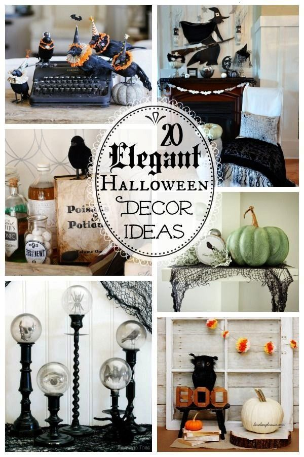 Elegant Halloween Decorations. Give your home an air of sophistication this halloween with these