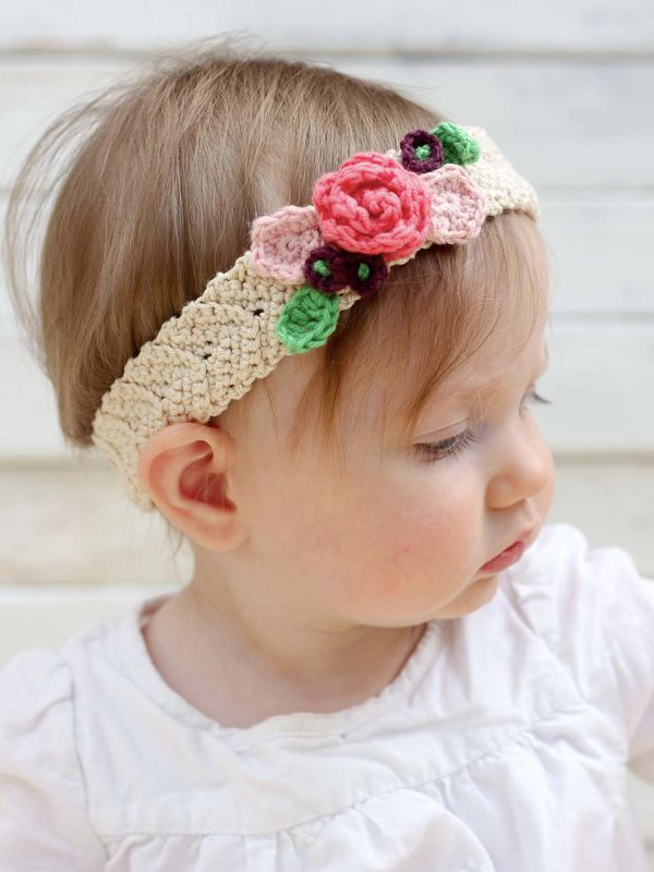 Adorable FREE crochet hair accessories on the LoveCrochet Blog!