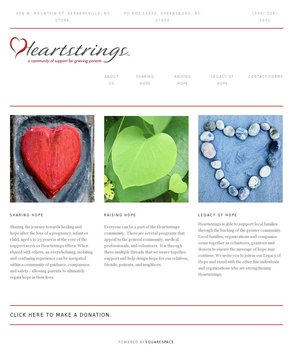 Heartstrings Support Website Heartstringssupport