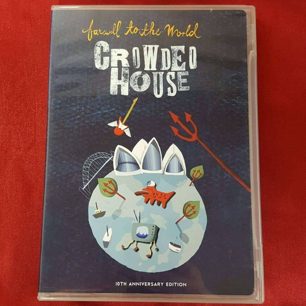 Crowded House Farewell to the World DVD 10th Anniversary Edition 2 Disc OOP #SingerSongwriterAlternativeIndie