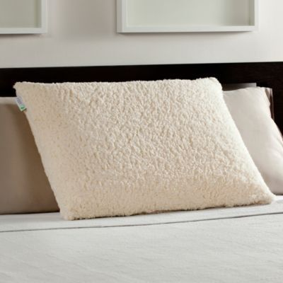 Comfort Revolution 174 Memory Foam Bed Pillow With Sherpa