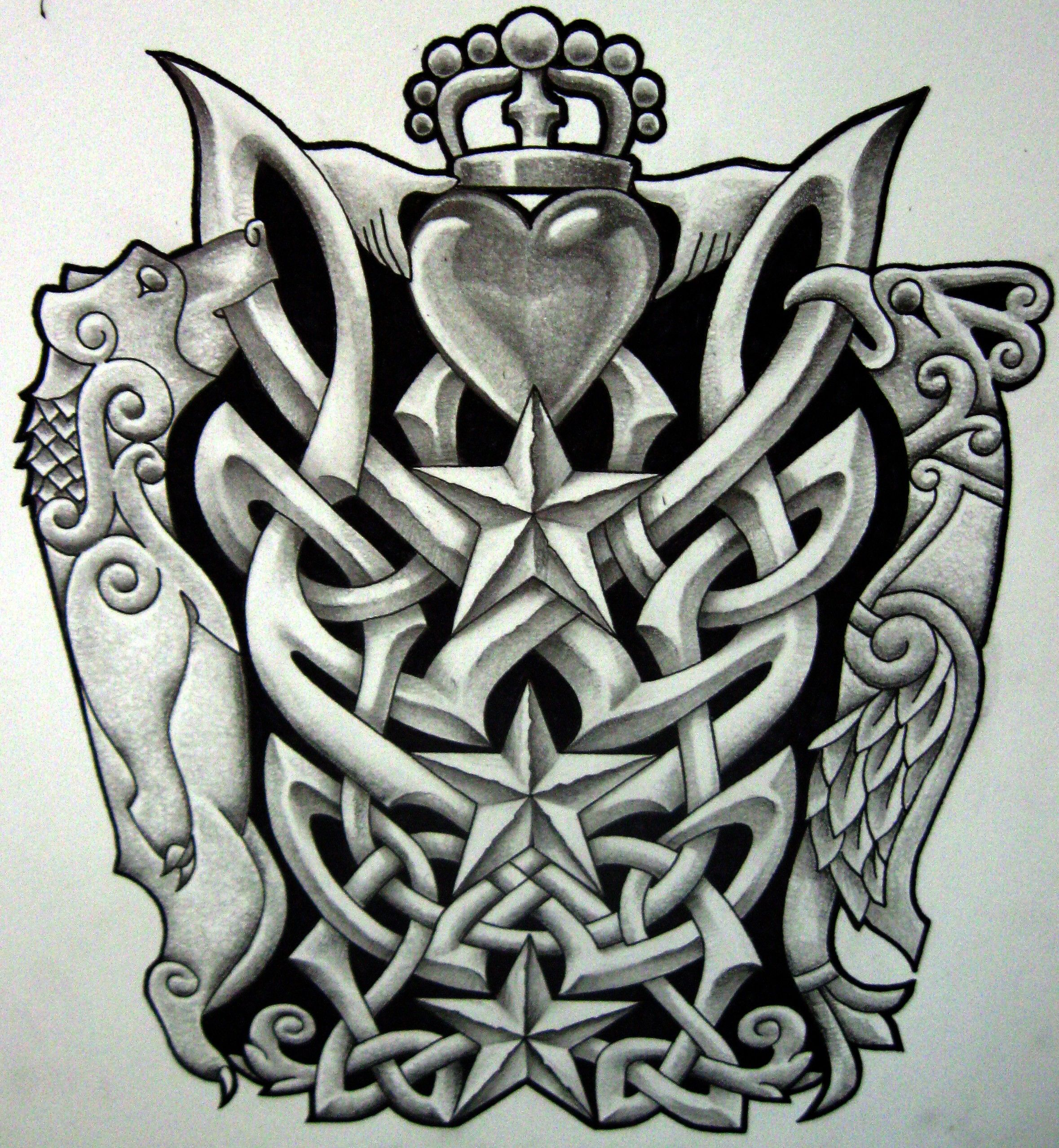 Scottish Tattoo Ideas Half Sleeve: Lower Arm Half Sleeve Design