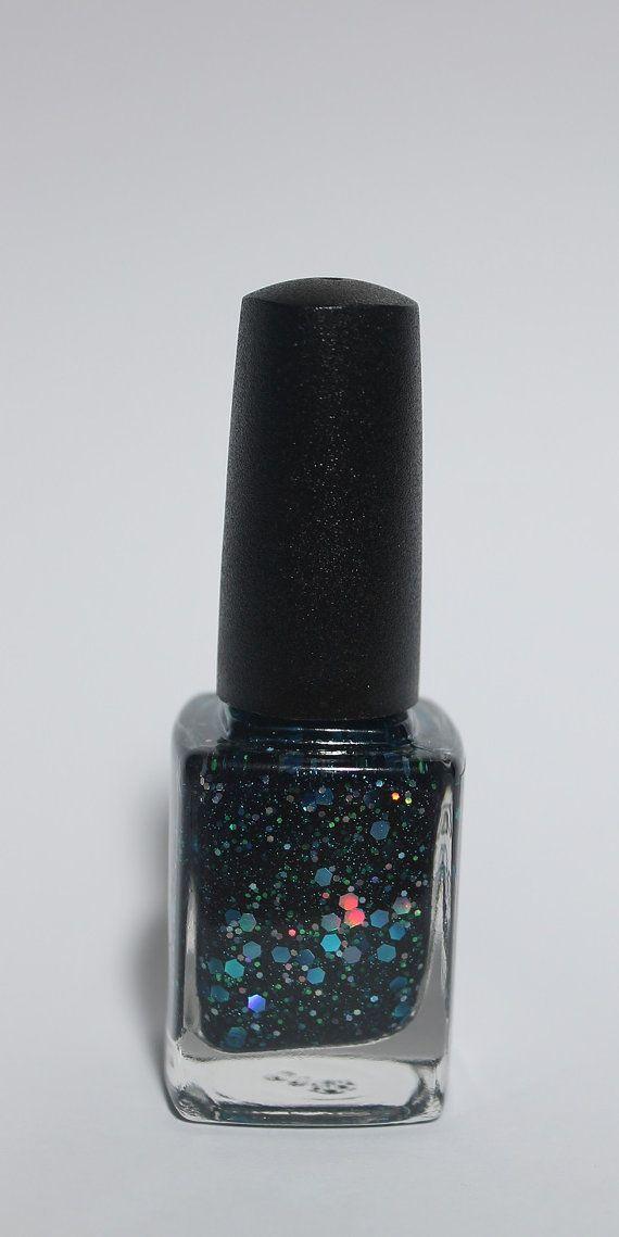 Downworlder  - navy glitter packed nail polish!