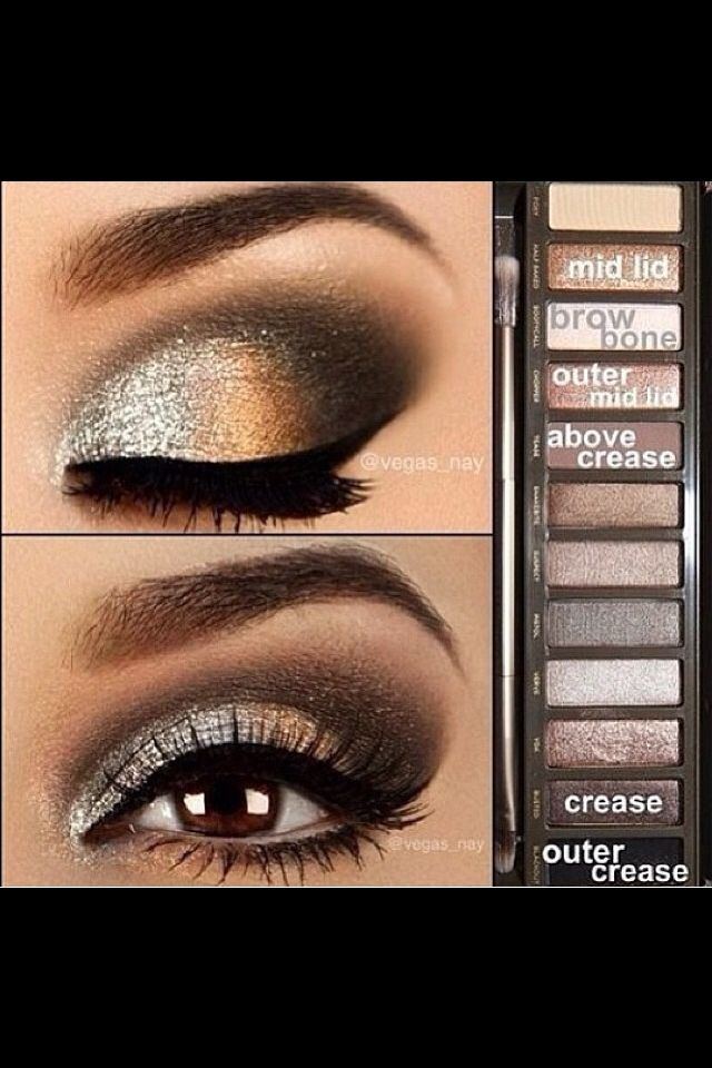 Holiday Makeup Monday Tutorial: Gold Glitter Eyes - Living