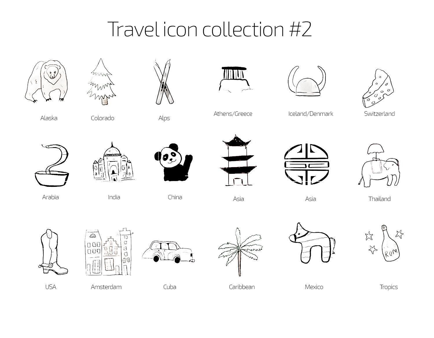 Travel Instagram Story Highlight Icons Covers Set Of 35 Etsy Black And White Instagram Instagram Icons Travel Icon