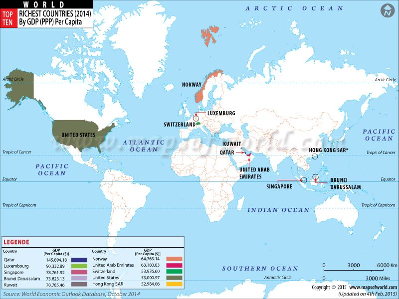 Top ten richest countries of the world travel pinterest top buy top ten richest countries map online world map showing top ten richest country of world by gdp ppp per capita gumiabroncs Images