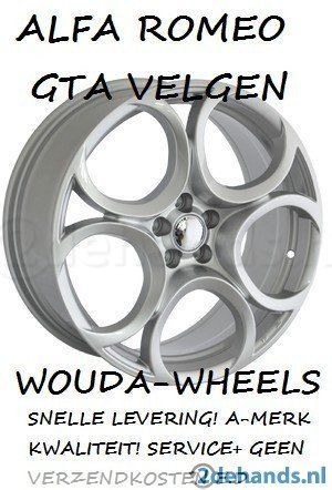 75x17 P3448 Alfa Romeo Hoefijzer Zilver 5x110 Velgen Te
