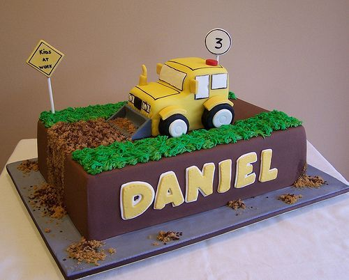 Construction Cake Designs