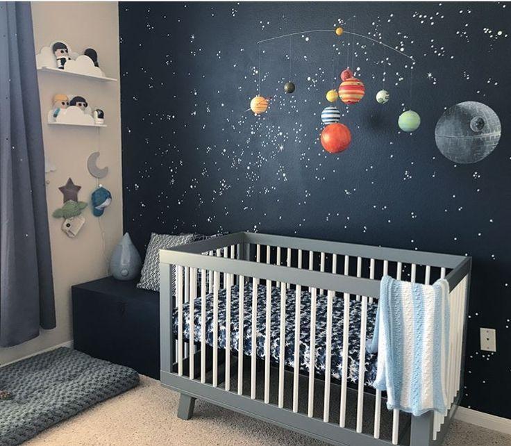 Wirklich Coole Kindergarten Galaxy Moon Stars Nurserydecor