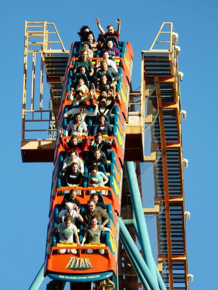 Titan Roller Coaster Coaster World Titan Six Flags Over Texas Six Flags Over Texas Six Flags Nightlife Travel