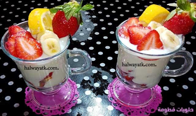 طريقة عمل عصير الموز بالفراولة Food Desserts Pudding