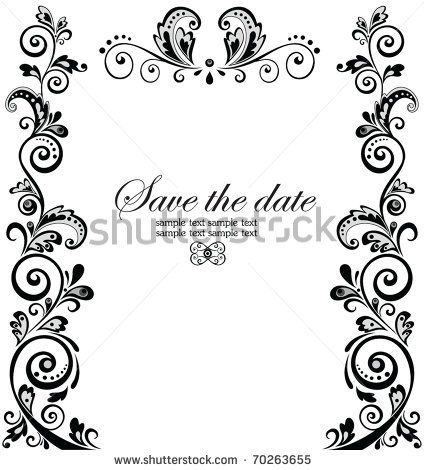 Vintage Wedding Border Stock Vector 70263655 Shutterstock With