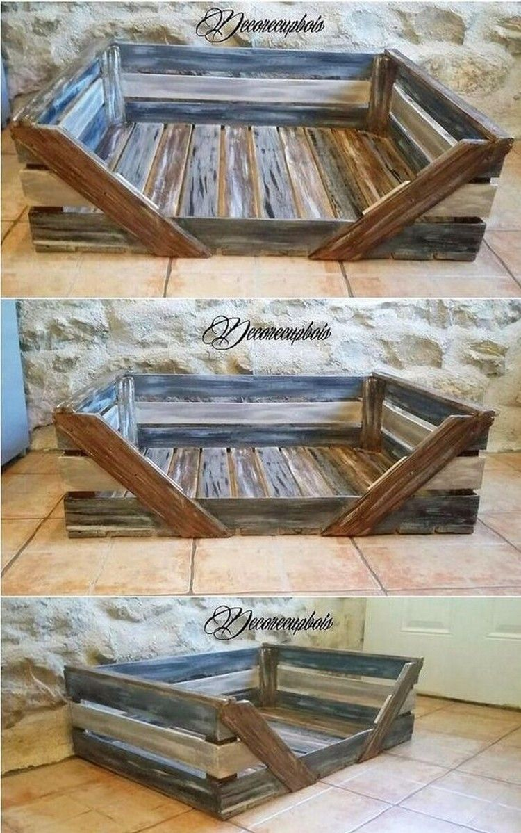Furniture Designs with Re purposed Pallets Pallet dog