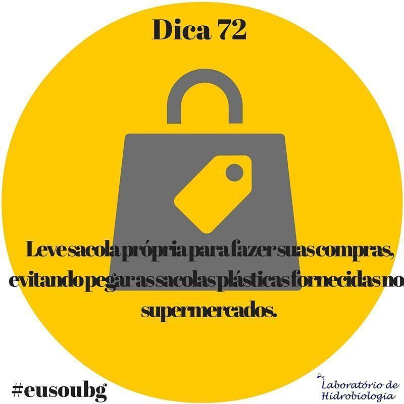 Geralmente feitas de algodão ou outros materiais considerados sustentáveis as ecobags são produtos desenvolvidos para substituir o uso das sacolas de plástico. Além de biodegradáveis as sacolas ecológicas são reutilizáveis para consumo podendo ser lavadas e usadas em diferentes situações do dia a dia. #eusoubg #baiadeguanabara #guanabara #guanabarabay #riodejaneiro #errejota #analisedeagua #labhidroufrj #ufrj #ecobag #ecobags