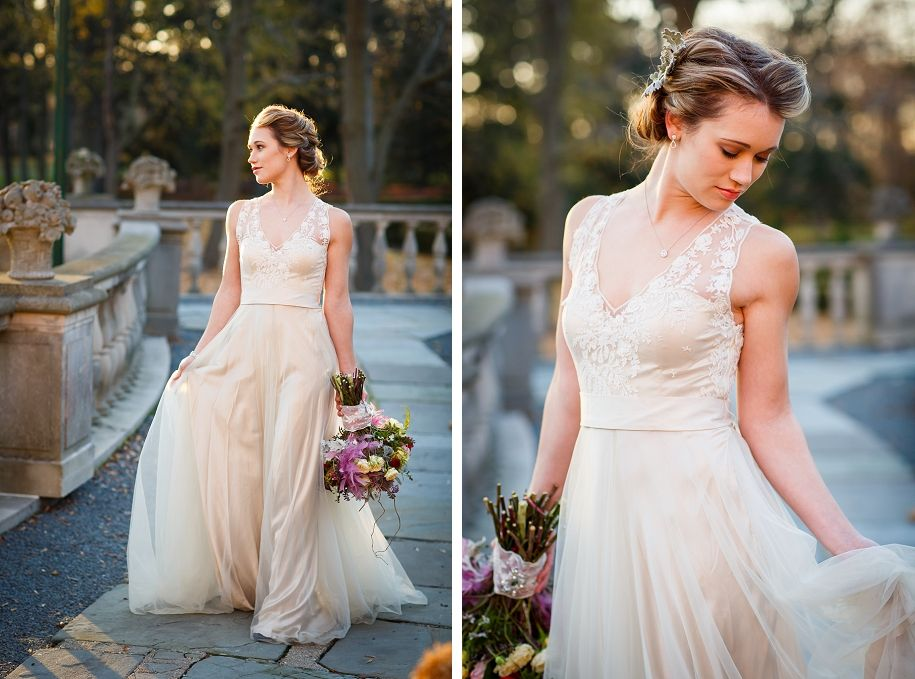 Cuneo Mansion Wedding Inspiration ShootHair and makeup by www.jenniferleejohnson.com