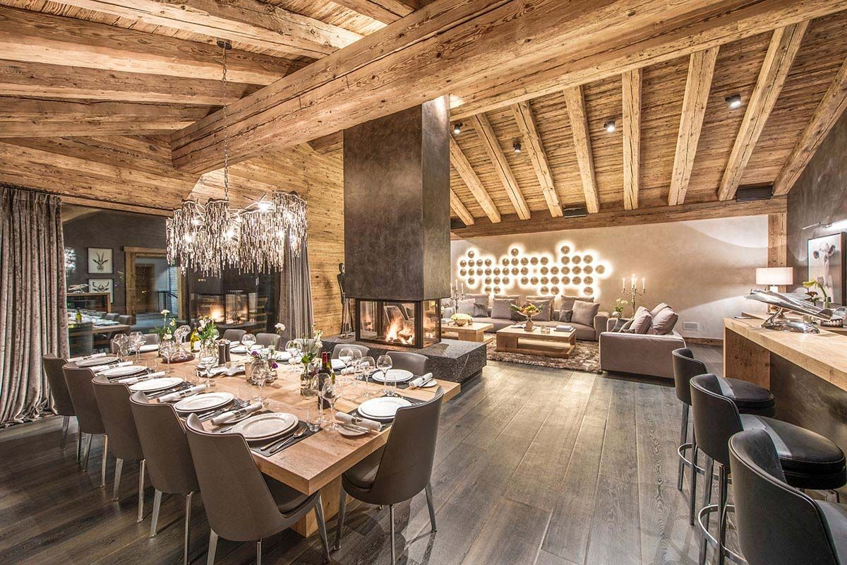Luxurious chalet in the swiss alps offers ski resort for Chalet haus bauen