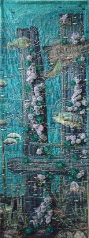 Global Warming - Thom Atkins, embellished quilt