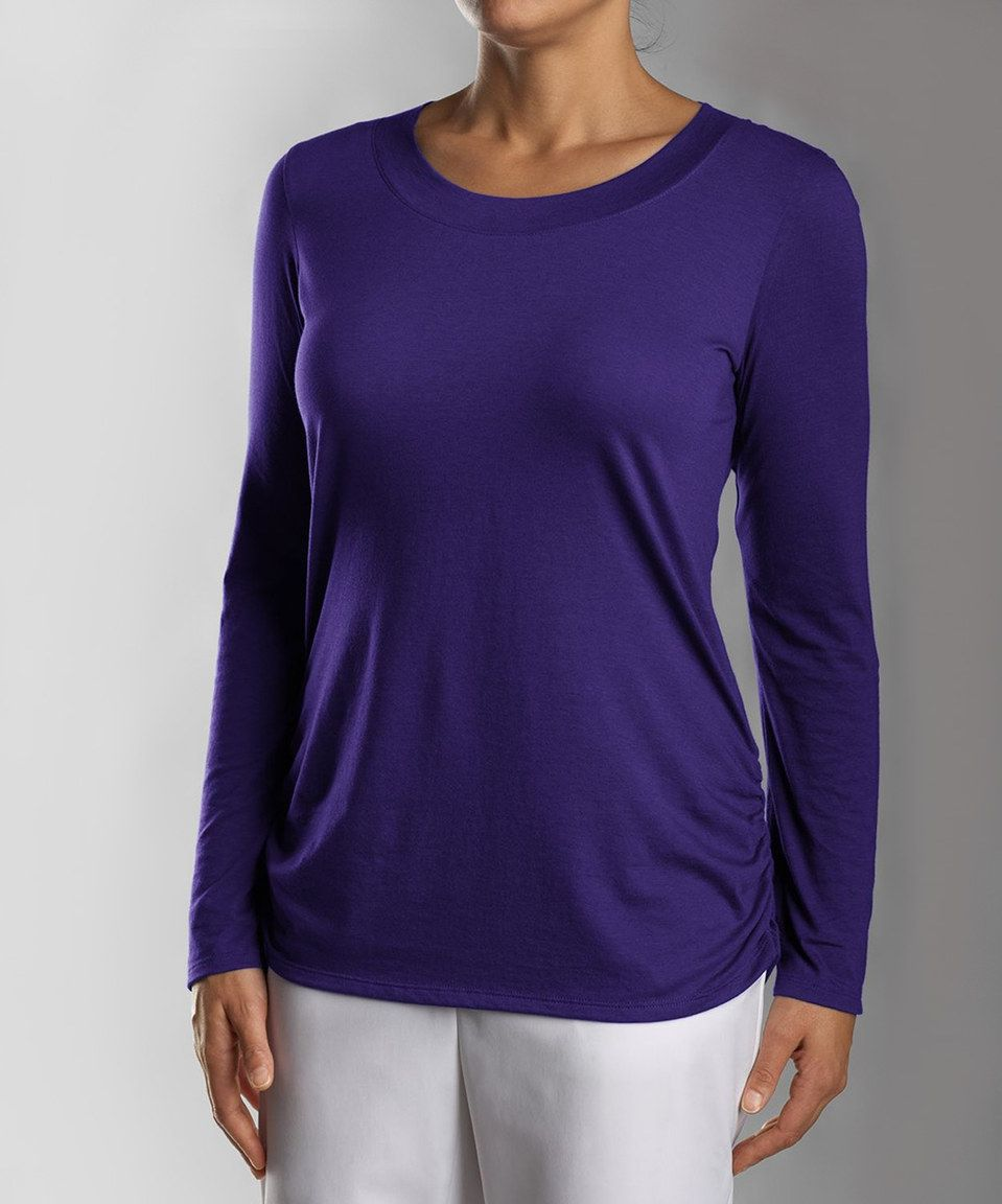 Loving this College Purple Fellowship Three-Quarter Sleeve Tee - Plus Too on #zulily! #zulilyfinds