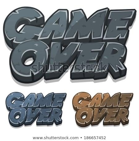 Cartoon Game Over Icon Illustration Of A Set Of Cartoon Stony And Rock Game Over Icons For User Interface G Game Logo Design Logo Design Creative Font Graphic