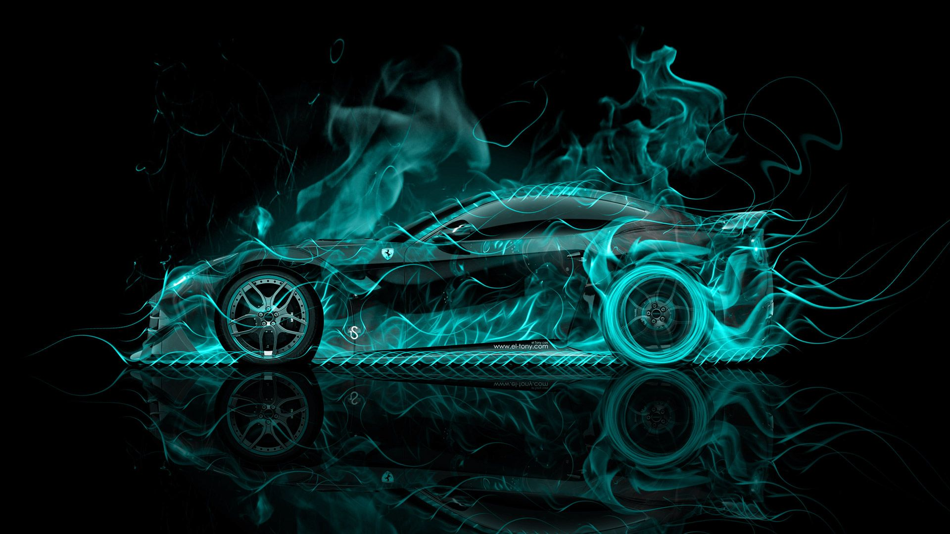 Lamborghini Asterion Back Fire Abstract Car El Tony