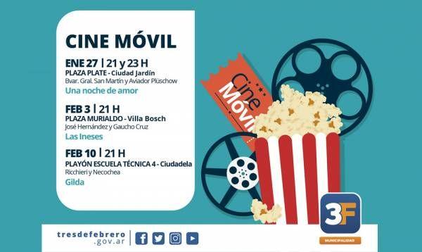 El Cine Móvil recorrerá los barrios durante el verano