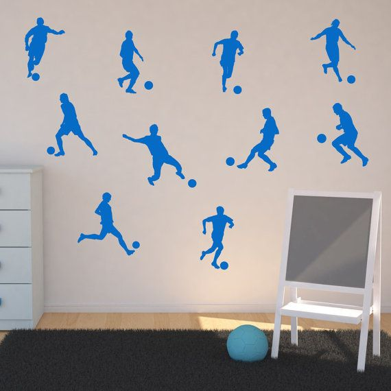 Football Player Wall Stickers Footballer Wall Decals Football