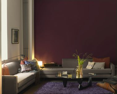 tendance couleurs de peinture pour l 39 automne salon pinterest tapis violet couleur. Black Bedroom Furniture Sets. Home Design Ideas
