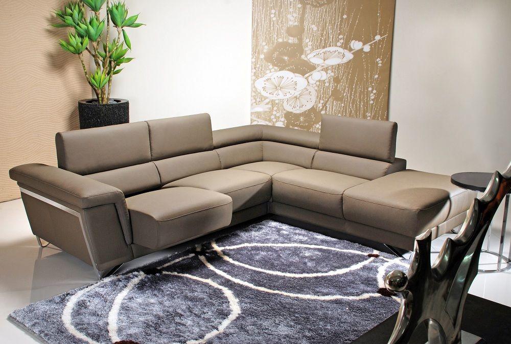 Natural Colins Brown Sectional Sofa by Sunset Living Room - design sofa moderne sitzmobel italien