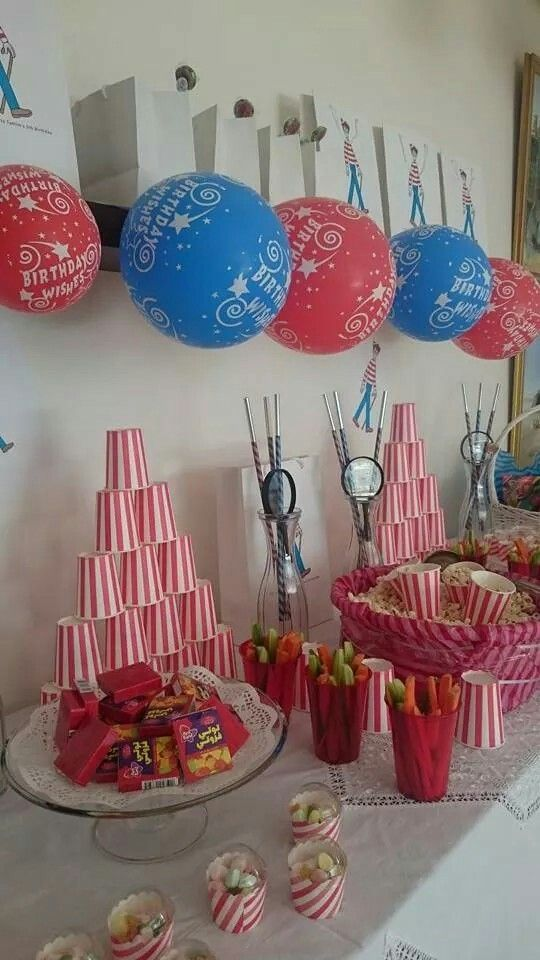 Where Is Wally Theme Birthday Party 17th 4th Parties Boy