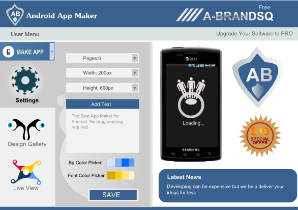 android app creator interface design design showcase logo design gallery inspiration - Android Ui Maker