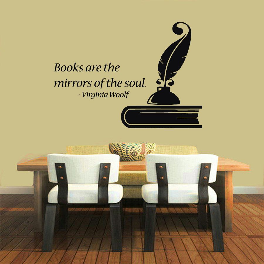 Wall Decals Books Are The Mirrors Quote Vinyl Sticker Mural - Vinyl wall decals books